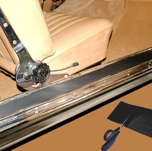 2x Gummi Belag Oldtimer Einstieg Schweller Trittbrett Trittleiste 100 x 12 cm