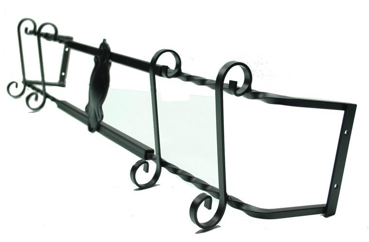 blumenkastenhalter schwarz 80 110 cm f r fensterbank aussen halter fenstergitter ebay. Black Bedroom Furniture Sets. Home Design Ideas