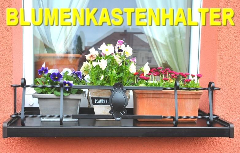 blumenkastenhalter schwarz 80 110 cm f r fensterbank. Black Bedroom Furniture Sets. Home Design Ideas