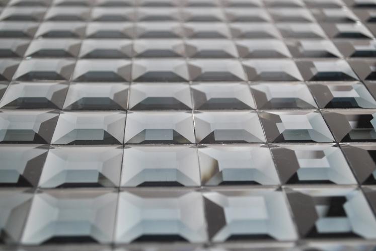 Mosaik fliesen glasmosaik silber mit effektschliff - Mosaikfliesen silber ...