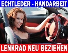 """Leder Lenkrad farbig neu beziehen Lenkradbezug """"Color Classic"""" Automobilleder"""