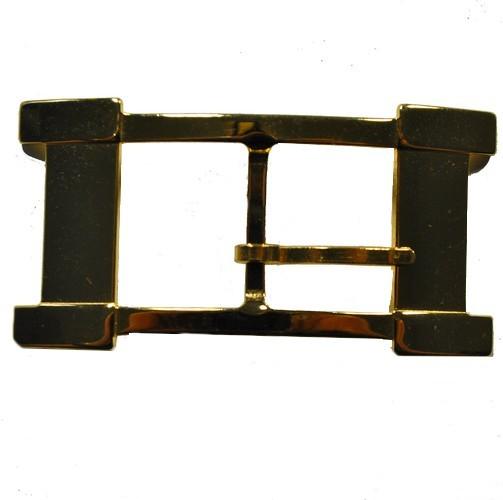 Gürtel Schnalle Schließe vermessingt für 25 mm Riemen Buckle Ledergurt (19)