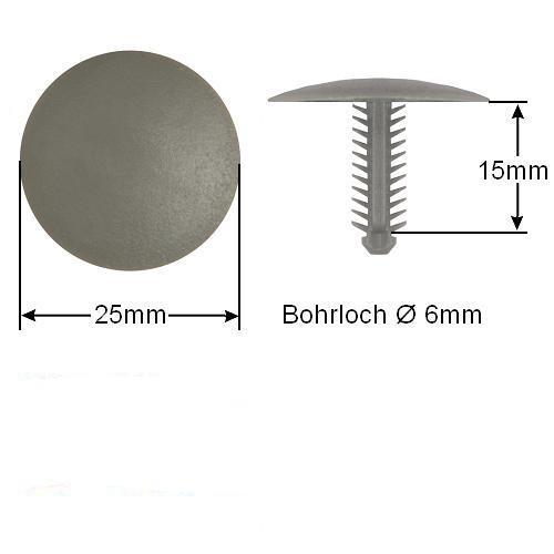 30x Clip Clips Clipse Innenverkleidung Dachhimmel KFZ Universal Befestigung 063