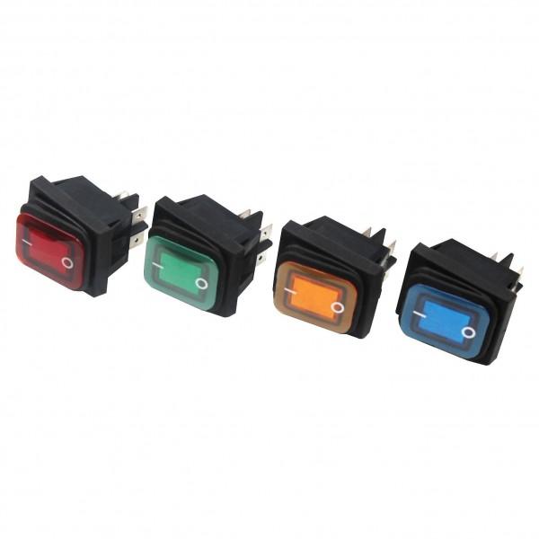 Wippenschalter Spritzwassergeschützt Beleuchtet Wippschalter Schalter 250V 16A