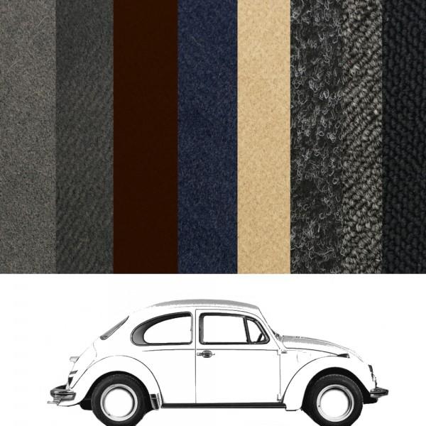 VW Käfer Teppich 1303 Limousine verschiedene Farben zur Auwahl in Velours und Schlinge