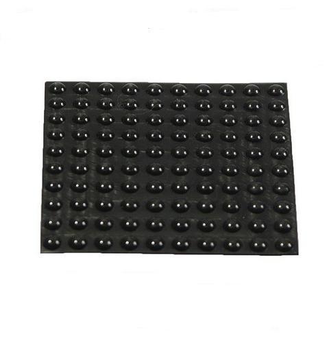 100 Geräte Gummi Füße Ø 8mm Höhe 3mm selbstklebend Gummifüße Gerätefüße