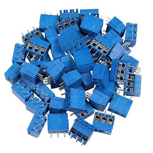 50 x Printklemmen Anschlussklemmen 3 polig Leiterplattenklemme Klemmenblock