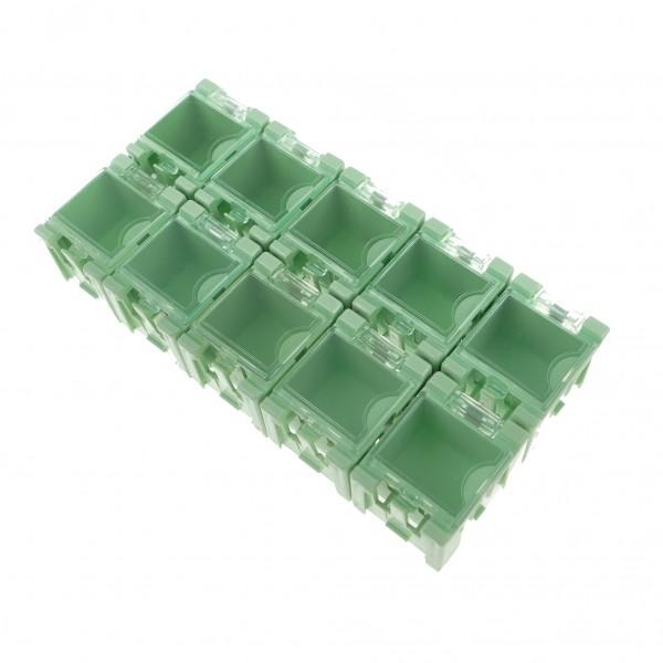 10x SMD Container GRÜN 32x26x21mm Mäuseklo Sortiment Box 0603 0805 1206
