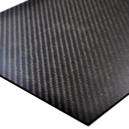 Echt Carbon Platte glatt 380 x 245 x 0,75 mm Kohlefaser CFK Modellbau CNC