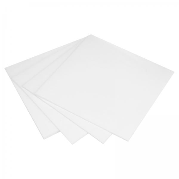 Teflon Platte PTFE verschiedene Stärken Weiß Tafel Folie 200x200mm