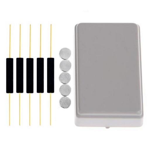 5x Reedkontakte 15x3 mm + 5x Neodym-Magnet Ø5x1mm (Magnetkontakt, Reed-Kontakt)