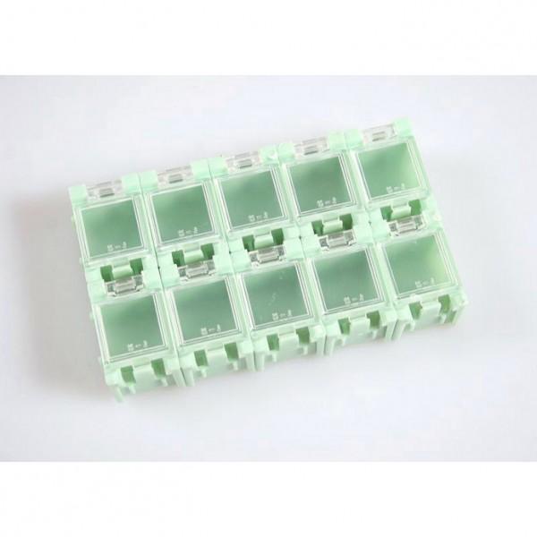 10x SMD Container aneinandersteckbar Mäuseklo Sortiment Box SMT 0603 0805 1206