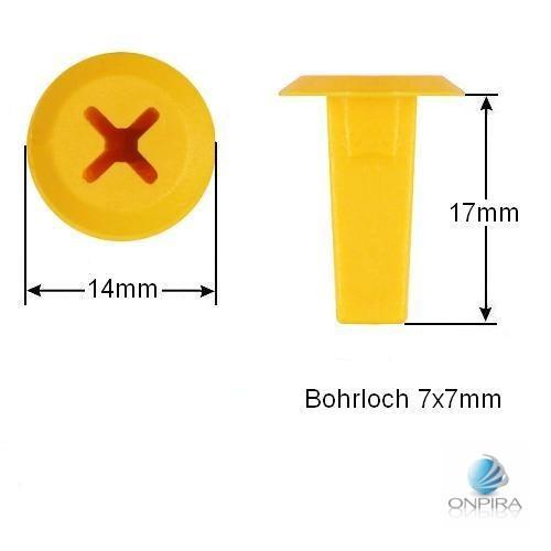 30x Clip Clips Clipse Kunststoff Spreizmutter Türverkleidung KFZ Universal 099