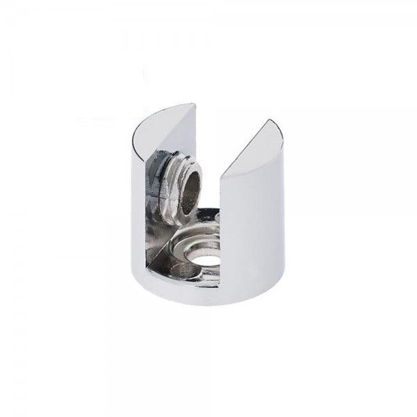 4x Chrom Glasplattenträger Glasbodenhalter Regalhalter Ø21mm Vitrine 8mm 10mm