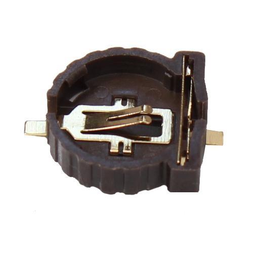 3x Batteriehalter Halter liegend Gold Knopfzelle CR1216 CR1220 SMD Montage