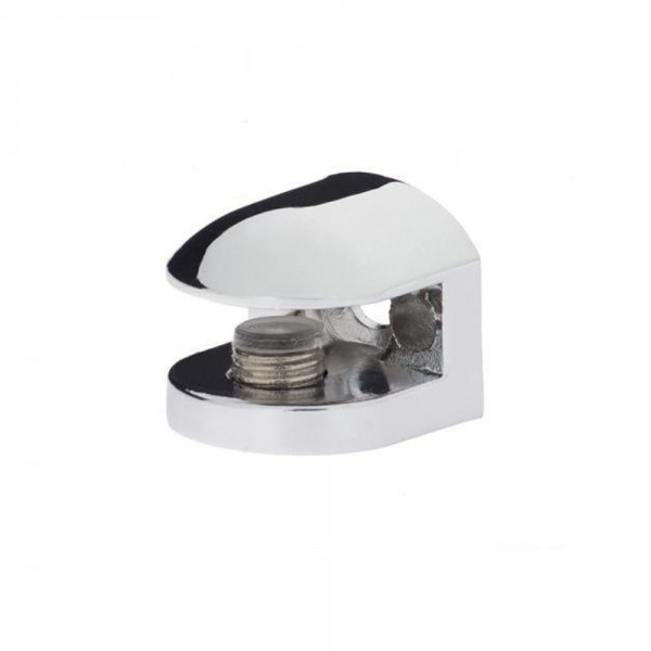 4x Chrom Glasplattenträger Glasbodenhalter Regalhalter 24x24mm FLACH 4mm 6mm