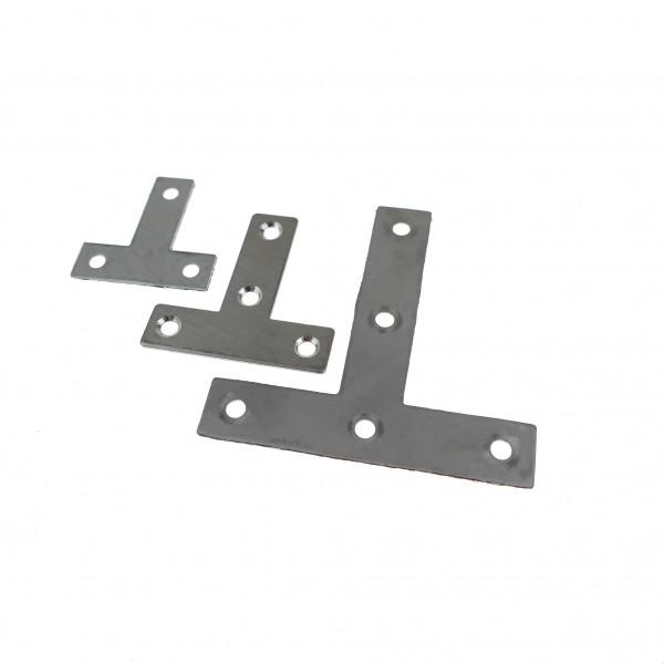 T-Blech Edelstahl 10 Stück Lochplatten Holzverbinder Lochblech Flachverbinder 5-18