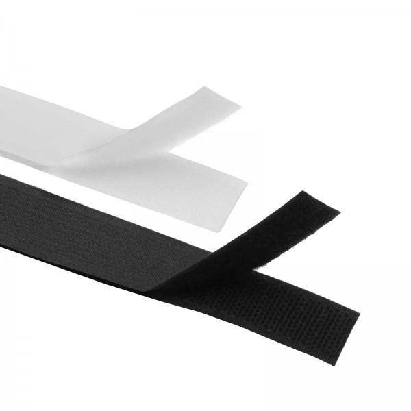 Klettband Meterware Weiß / Schwarz