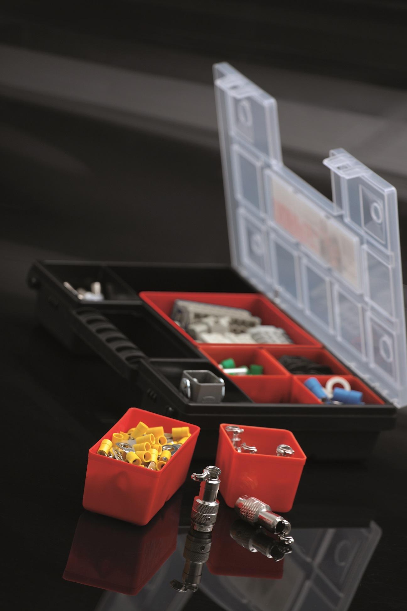 Sortimentsboxen Sortimentskasten Sichtkasten Sortierkasten NOR S12-5er Set