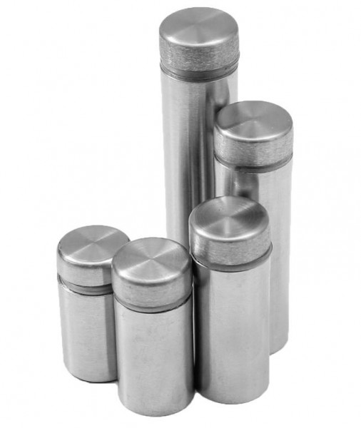 4x Ø12mm Edelstahl Spiegelbefestigung Spiegelhalter Spiegel Halter Glashalter