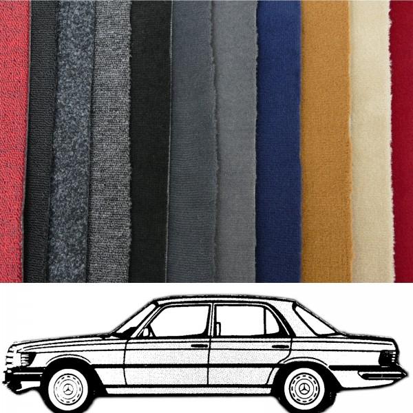 Autoteppich komplett Mercedes W116 SEL verschiedene Farben