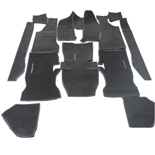 Opel Manta A Auto Teppich komplettes Set Velours schwarz Keder Stoff schwarz