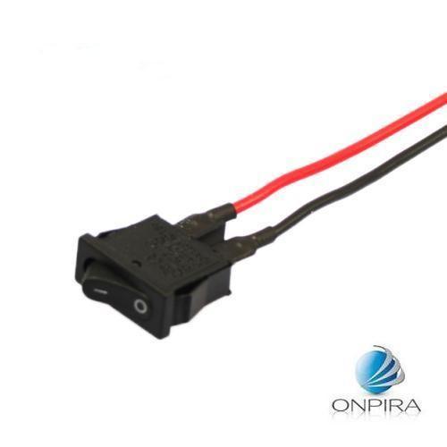 5 x Wippschalter 20x7mm Kabel Schwarz KFZ Wippenschalter Schalter EIN/AUS