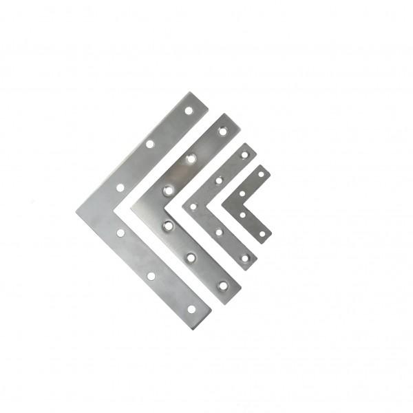 Winkel Edelstahl L-Form Lochblech Holzverbinder Flachverbinder 6-03