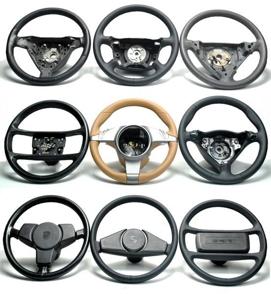 Porsche Dreispeichen Lenkrad neu beziehen Alcantara Ring 12 Uhr Automobilleder