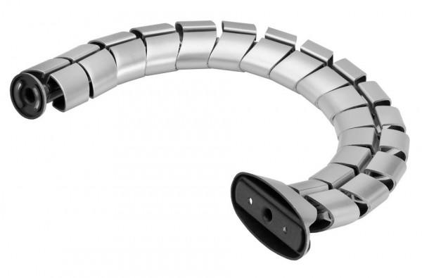 """Schreibtisch Kabelführung """"Silber"""" Kabeldurchlass Kabelschlauch Kabelspirale"""