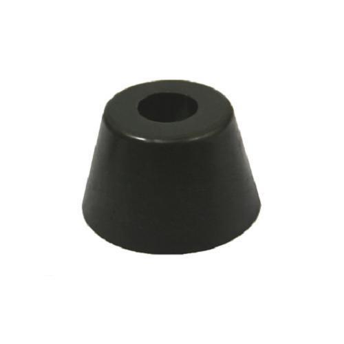4x Gummifüße 50x30mm Gummifuß Edelstahleinlage Boxenfüße Gerätefüße Türstopper