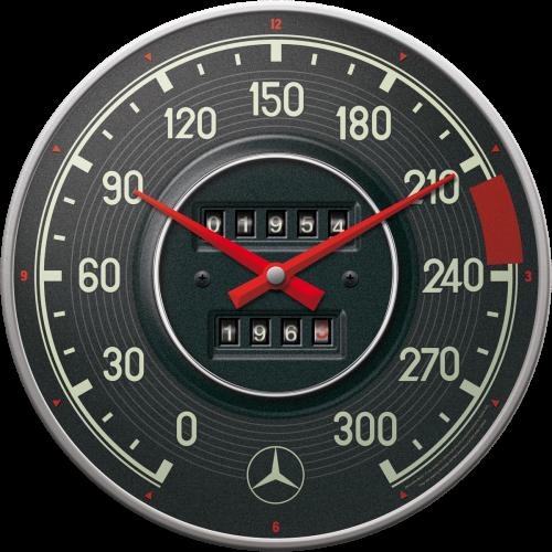 Wanduhr 31cm Mercedes-Benz Tacho