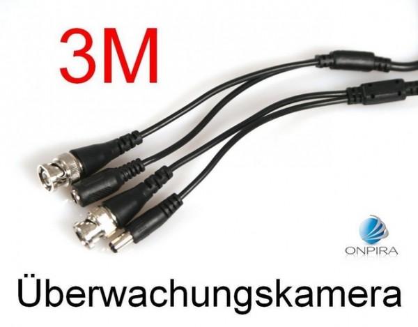 Kabel für Überwachungskamera BNC Video 12V DV Kamera Videokabel