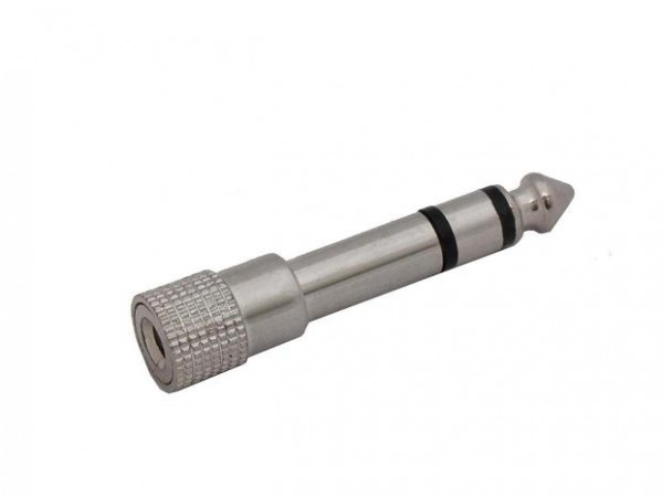 3x Stereo Klinkenadapter 6,3mm Klinkenstecker auf 3,5mm Klinkenbuchse Klinke