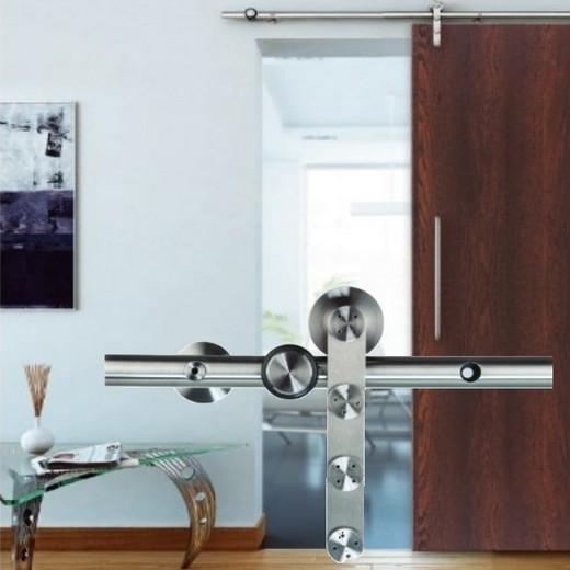 Schiebetürbeschlag + Laufschienen für Holztüren von MLS Modell WDU-D