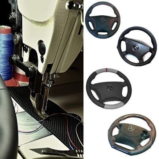 Wir beziehen Ihr Lenkrad neu mit Leder - Mercedes R230 SL-Klasse