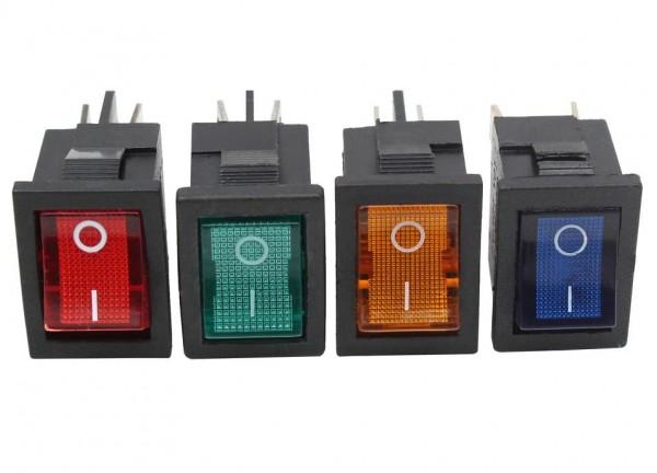 5x Mini Wippschalter 13x20mm 1x EIN Beleuchtung Schalter