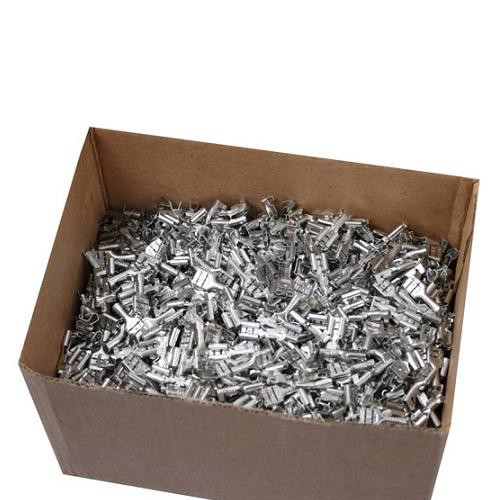 1000 Flachsteckhülsen 6,3mm 1,5 - 2,5 mm² Kabelschuh unisoliert ohne Rasternase