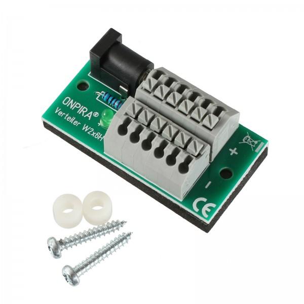 ONPIRA Stromverteiler Verteiler mit 5,5x2,1mm Hohlstecker 8A belastbar Modellbau