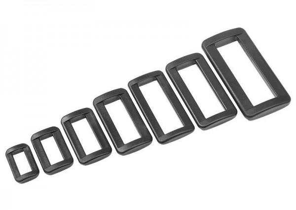 20x Ovalringe Schlaufe Schieber Gleiter für Gurtband Kunststoff Ovalring M001-25