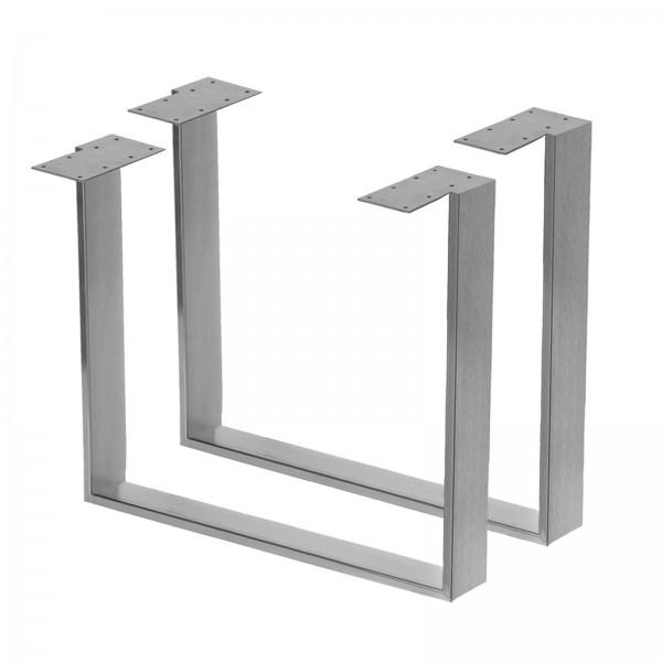 Tischgestell Kufengestell Paar Edelstahl Hochglanz / Gebürstet 3 Größen