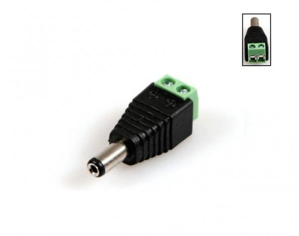 10x Hohlstecker Stecker Ø 2,1mm / 5,5mm 12V DC Überwachungskamera