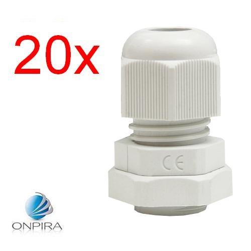 20x PG - Kabelverschraubung mit Zugentlastung