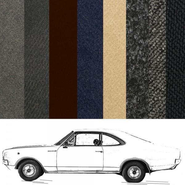 Opel Rekord Teppich für C Coupe 2-türig verschiedene Farben Schlinge Velours