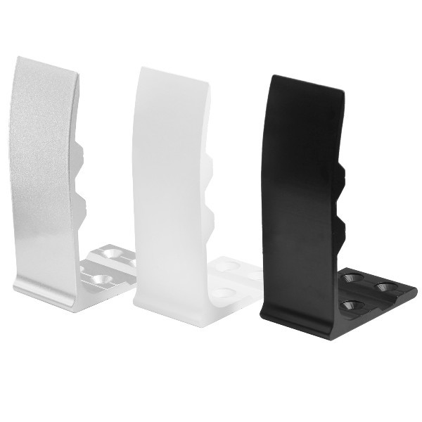 Aluminium Sichtschutz Halter für Bürotisch Schreibtisch Tisch Sichtschutzhalter