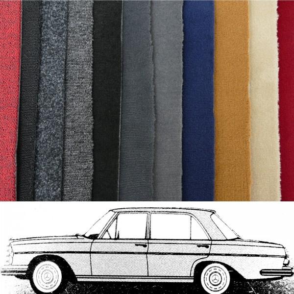 Autoteppich komplett Mercedes W108 bis Baujahr 1969 verschiedene Farben Neu