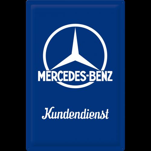 Bleschild 40x60cm Mercedes-Benz Kundendienst