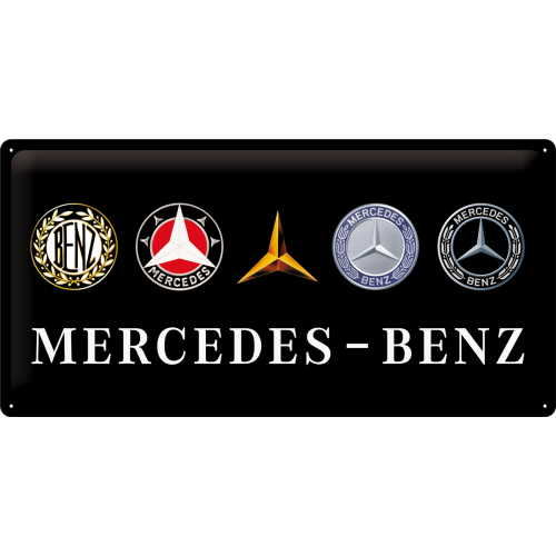 Blechschild 25x50 Mercedes Benz Logo Evolution