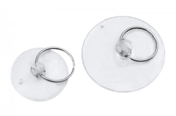 10x Saugnapf mit Ring 35mm 50mm Saugknopf Haken Schlüsselring Saughaken Halter