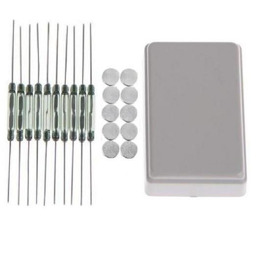 10x Reedkontakte 20x2,6 mm + 10x Neodym-Magnet Ø5x2mm Magnetkontakt Reedkontakt